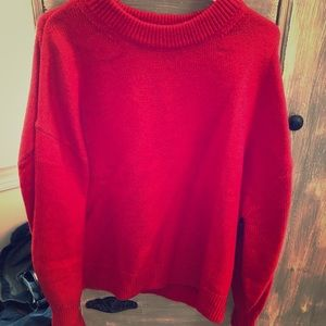 NWT H&M red balloon sleeve sweater